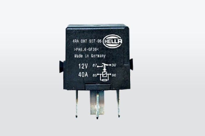 Mini relais contact 12V 4 pin